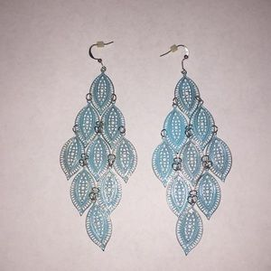 Blue and silver earrings!